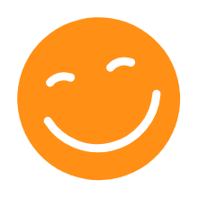 Orange Smiley Face
